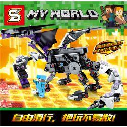 SHENG YUAN SY 7043 Xếp hình kiểu Lego MINECRAFT My World Million Dragon Dragon Millage Dragon Dragon. 285 khối