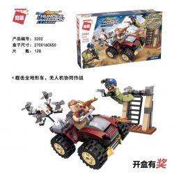 Enlighten 3202 Qman 3202 Xếp hình kiểu Lego ThunderMission Thunder Mission Mountain Road Ambush Phục Kích đường Núi 128 khối