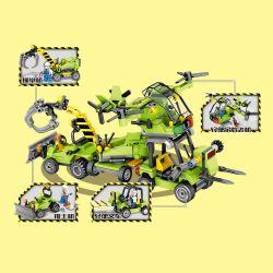 SHENG YUAN SY 606001 606002 606003 606004 606005 606006 606007 606008 Xếp hình kiểu Lego BUILD TEAM Engineering Vehicles 8 Types Of Small Dump Trucks, Drilling Machines, Portable Cranes, Road Rollers,