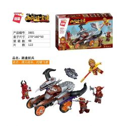 Enlighten 3801 Qman 3801 KEEPPLEY 3801 Xếp hình kiểu Lego MONKIE KID WUKONG Lu Feng Yaobing 122 khối