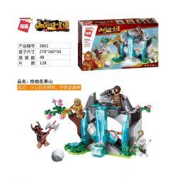 Enlighten 3802 Qman 3802 Xếp hình kiểu Lego MONKIE KID WUKONG Journey To The West Robbery Cướp Huaguoshan 128 khối
