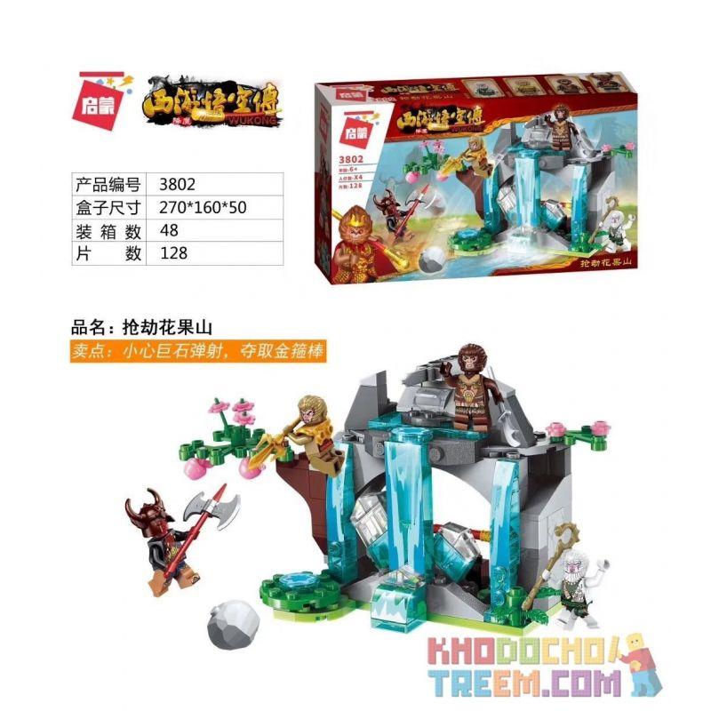 Enlighten 3802 Qman 3802 KEEPPLEY 3802 Xếp hình kiểu Lego MONKIE KID Robbing Huaguoshan Cướp Huaguoshan 128 khối