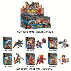 Bela 10982 10983 10984 10985 10986 10987 Lari 10982 10983 10984 10985 10986 10987 Xếp hình kiểu Lego SUPER HEROES Justice League Minifigure 6 gồm 6 hộp nhỏ
