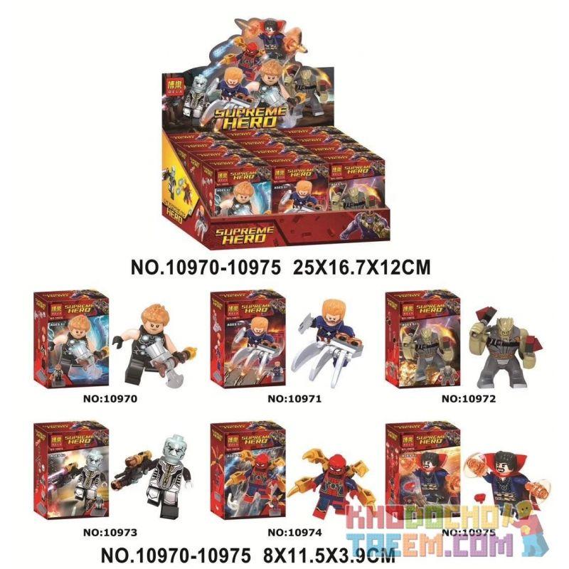 Bela 10970 10971 10972 10973 10974 10975 Lari 10970 10971 10972 10973 10974 10975 Xếp hình kiểu Lego SUPER HEROES Supreme HERO Avengers 6 Avengers 6. gồm 6 hộp nhỏ