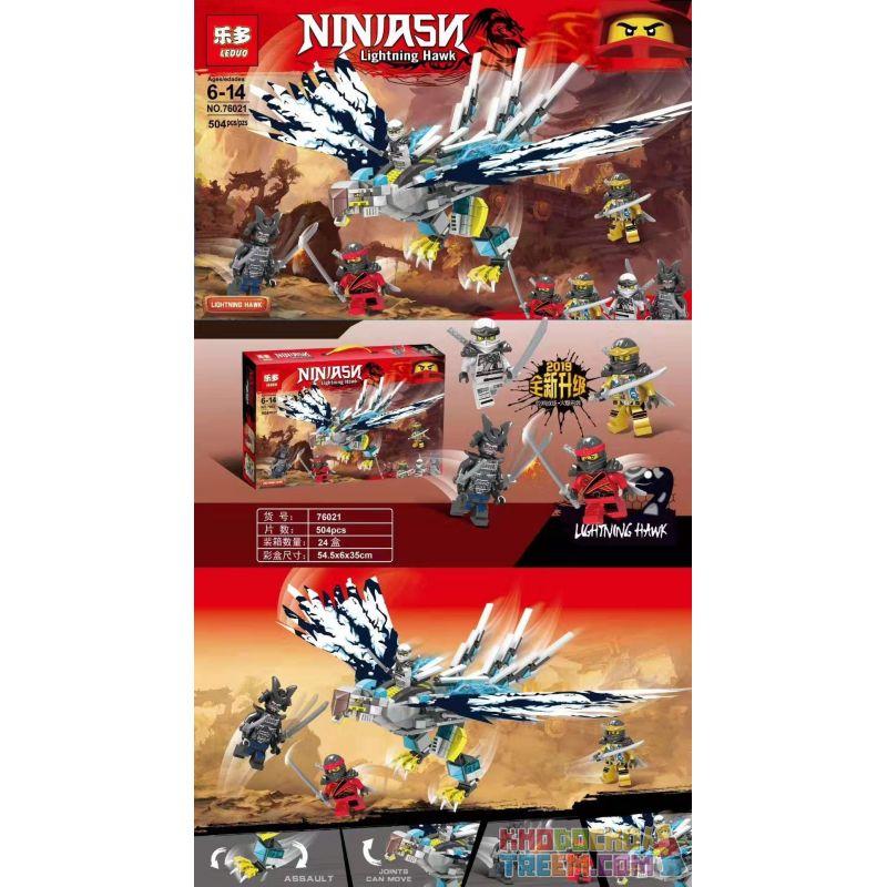 LEDUO 76021 Xếp hình kiểu Lego THE LEGO NINJAGO MOVIE Ninja Lightning Eagle Đại bàng tia chớp Ninja 504 khối