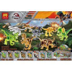LELE 39127 Xếp hình kiểu Lego DINO Dinosaur World Jurassic Daxu Dinosaur 8 Cuộc Phiêu Lưu Kỷ Jura 8 Con Khủng Long