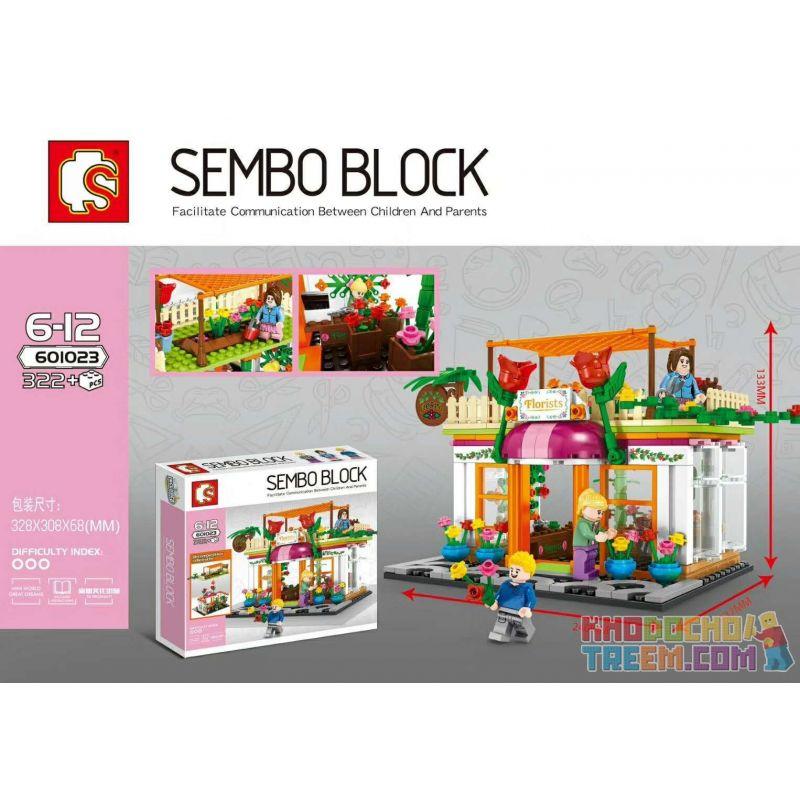 SHENG YUAN SY 601023 Xếp hình kiểu Lego MINI MODULAR Flower Shop cửa hàng hoa 322 khối