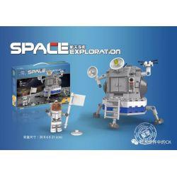 XINGBAO XB-16001 16001 XB16001 Xếp hình kiểu Lego SPACE EXPLORATION Moon Landing Hạ cánh lên mặt trăng 236 khối