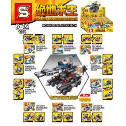SHENG YUAN SY 1208 Xếp hình kiểu Lego PUBG BATTLEGROUNDS Jedi Survival Weapon Can Form A Armored Shells 10 Vũ Khí Của PlayerUnknown's Battlegrounds Có Thể Bao Gồm 10 Xe Bắn đạn Pháo Bọc Thép 271 khối