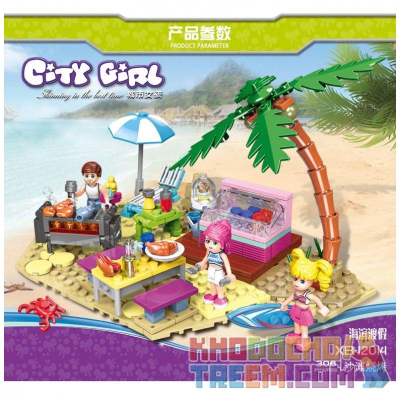 XINGBAO XB-12014 12014 XB12014 Xếp hình kiểu Lego CityGirl Beach Barbecue City Girl BBQ Bãi Biển 194 khối