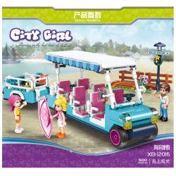 XINGBAO XB-12015 12015 XB12015 Xếp hình kiểu Lego CITY GIRL Island Tour Bus Xe buýt du lịch đảo 295 khối