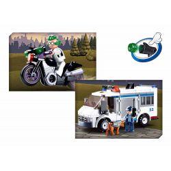SLUBAN M38-B0652 B0652 0652 M38B0652 38-B0652 Xếp hình kiểu Lego POLICE Criminal Investigation Escort Vehicle Xe hộ tống điều tra hình sự 117 khối