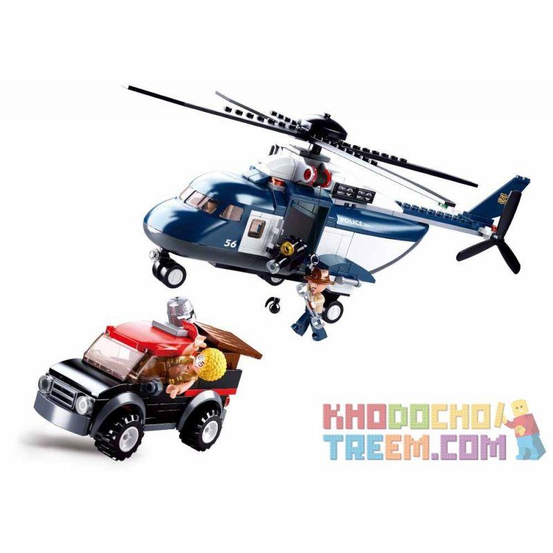 SLUBAN M38-B0656 B0656 0656 M38B0656 38-B0656 Xếp hình kiểu Lego Police Potorcraft All Police Dispatched Police Rotor Helicopter Trực Thăng Cánh Quạt Cảnh Sát 285 khối