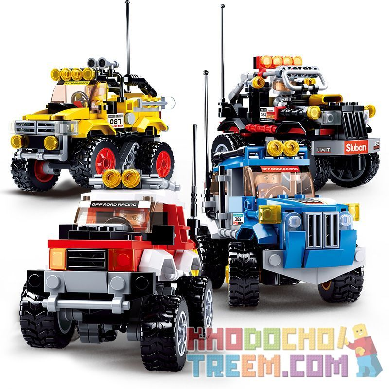 SLUBAN M38-B0663B B0663B 0663B M38B0663B 38-B0663B Xếp hình kiểu Lego SPEED CHAMPIONS Pathfinder Suspension Off-road Vehicle Pathfinder hệ thống treo xe địa hình 145 khối