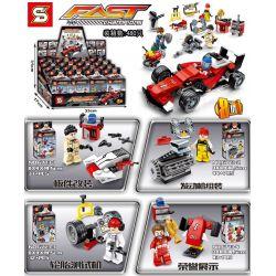 SHENG YUAN SY 6773 6773-1 6773-2 6773-3 6773-4 6773-5 6773-6 6773-7 6773-8 Xếp hình kiểu Lego SPEED CHAMPIONS FAST Champions F1 FAST Champions Red F1 Racing And Human Bees 8 Match Panel Modification,
