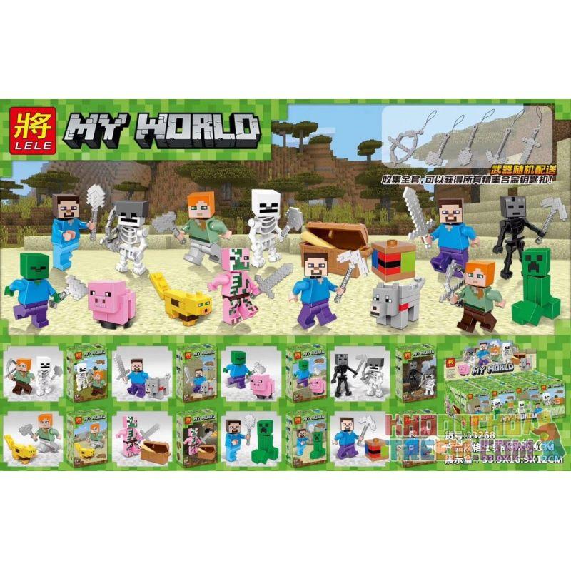 LELE 33268 Xếp hình kiểu Lego MINECRAFT 8 Minifigures 8 nhân vật nhỏ