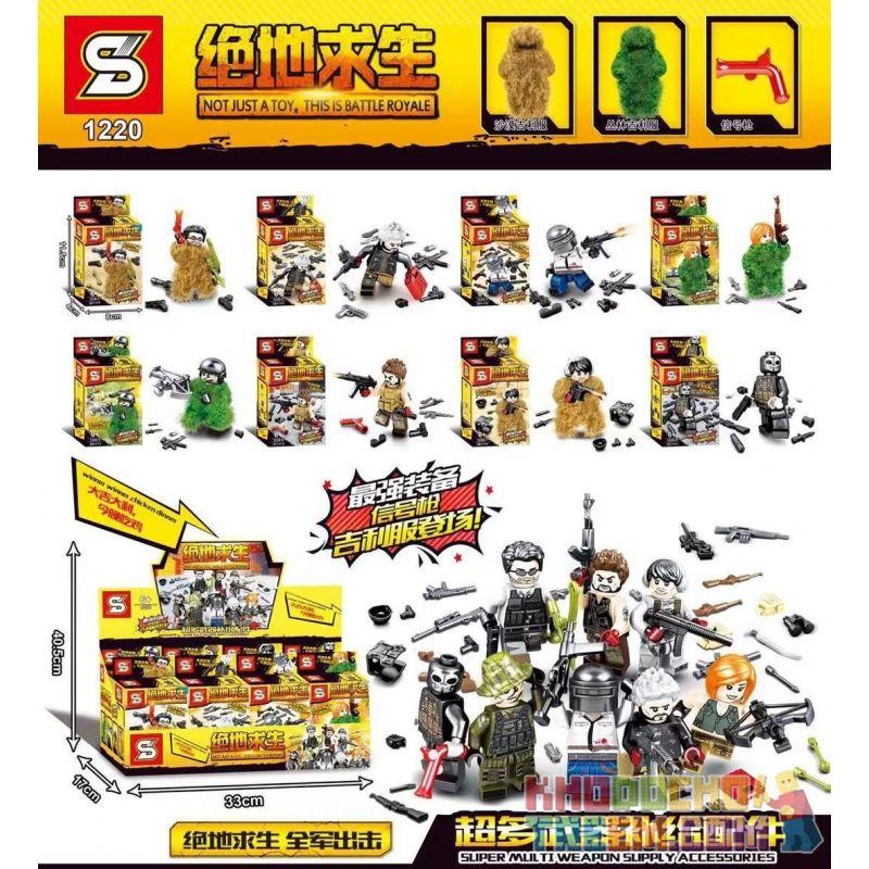 SHENG YUAN SY 1220 Xếp hình kiểu Lego COLLECTABLE MINIFIGURES Jedi Survival Hundreds Of 8 Super Multi-weapons Replenishment Accessories Minifigure 8 Siêu Phụ Kiện Cung Cấp Vũ Khí