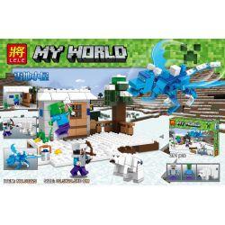 LELE 33225 Xếp hình kiểu Lego MINECRAFT Snow Hut Túp lều tuyết 291 khối