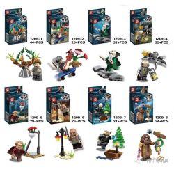 SHENG YUAN SY 1209 1209-1 1209-2 1209-3 1209-4 1209-5 1209-6 1209-7 1209-8 Xếp hình kiểu Lego Harry Potter Hundreds Of People 8 8 Nhân Vật Nhỏ gồm 8 hộp nhỏ 230 khối