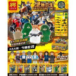 LELE 36054 Xếp hình kiểu Lego COLLECTABLE MINIFIGURES BattleGrounds Jedi Survival Giry Service Battle 8 Motorcycle Giry Clothes Battle Of Geely Quần áo 8 Mẫu Quần áo Geely Xe Máy