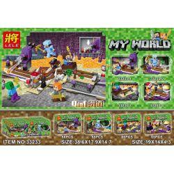 LELE 33233 33233-1 33233-2 33233-3 33233-4 Xếp hình kiểu Lego MINECRAFT My World 4-in-1 Slide Trang Trình Bày 4 Trong 1 gồm 4 hộp nhỏ 262 khối