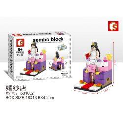 SHENG YUAN SY 601002 Xếp hình kiểu Lego MINI MODULAR Sembo Block Cửa hàng áo cưới 71 khối