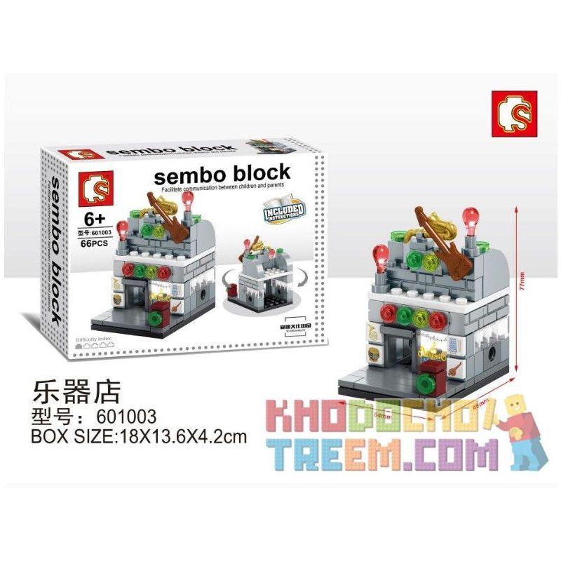 SHENG YUAN SY 601003 Xếp hình kiểu Lego MINI MODULAR Sembo Block Cửa hàng nhạc cụ 66 khối