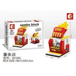 SHENG YUAN SY 601005 Xếp hình kiểu Lego MINI MODULAR Sembo Block Cửa hàng khoai tây chiên 68 khối