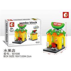 SHENG YUAN SY 601006 Xếp hình kiểu Lego MINI MODULAR Sembo Block Cửa hàng hoa quả 74 khối