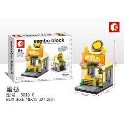 SHENG YUAN SY 601010 Xếp hình kiểu Lego MINI MODULAR Sembo Block:Eggtart Cửa hàng bánh trứng 77 khối