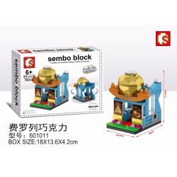 SHENG YUAN SY 601011 Xếp hình kiểu Lego MINI MODULAR Sembo Block Sô cô la Ferrero 70 khối