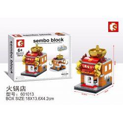 SHENG YUAN SY 601013 Xếp hình kiểu Lego MINI MODULAR Sembo Block Nhà hàng lẩu 79 khối
