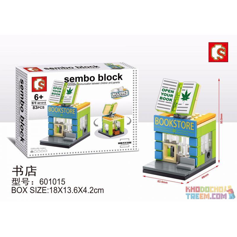 SHENG YUAN SY 601015 Xếp hình kiểu Lego MINI MODULAR Sembo Block:Bookstore hiệu sách 83 khối