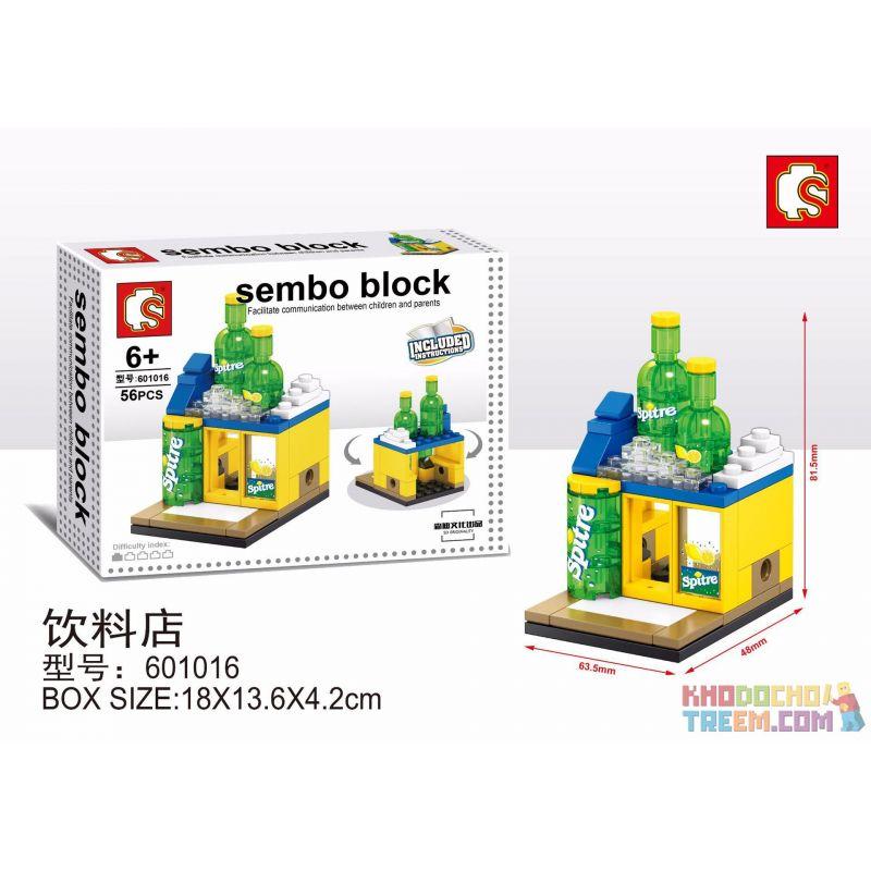 SHENG YUAN SY 601016 Xếp hình kiểu Lego MINI MODULAR Sembo Block Cửa hàng đồ uống Sprite 56 khối