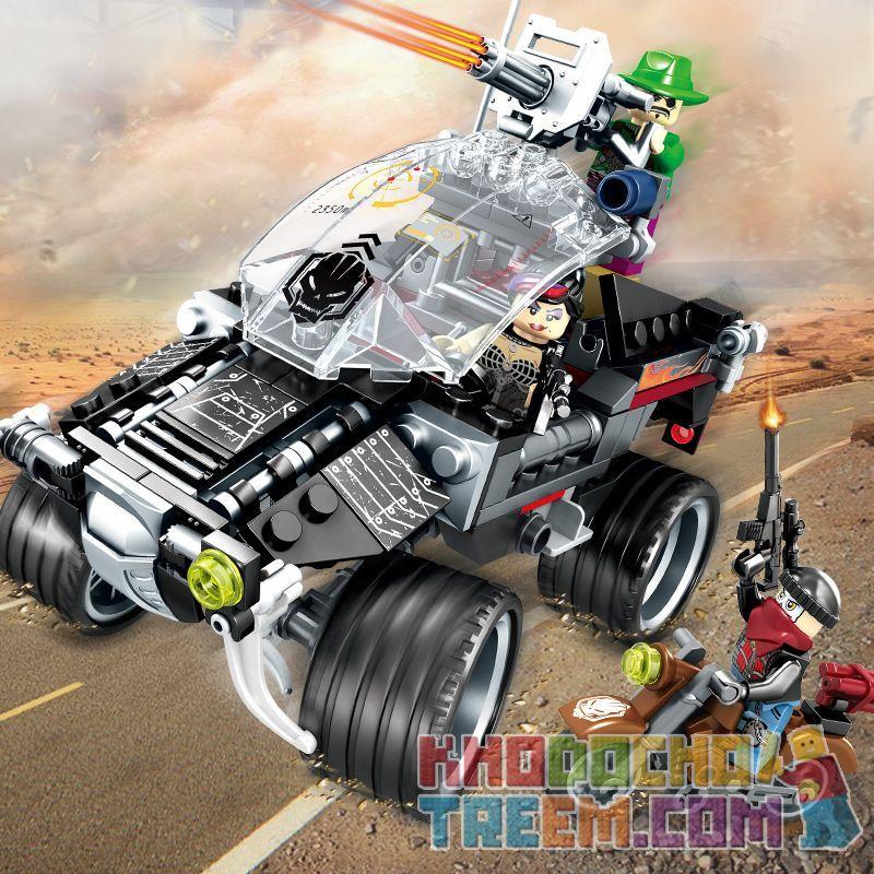 SEMBO 11677 Xếp hình kiểu Lego BLACK GOLD Black Plan Wild Boar Assault Tấn Công Lợn Rừng 284 khối