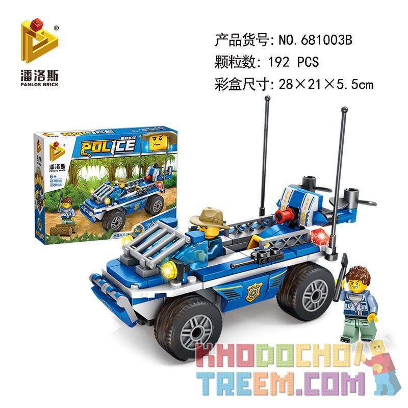 PanlosBrick 681003B Panlos Brick 681003B Xếp hình kiểu Lego POLICE Amphibious Police Car Xe cảnh sát lội nước 192 khối