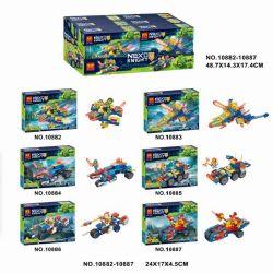 Bela 10882 10883 10884 10885 10886 10887 Lari 10882 10883 10884 10885 10886 10887 Xếp hình kiểu Lego NEXO KNIGHTS Element Knight Mini Battle 6 6 Xe Tăng Mini Của Hiệp Sĩ Nguyên Tố gồm 6 hộp nhỏ