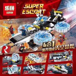LEPIN 03109 03109A 03109B 03109C 03109D 03109E 03109F Xếp hình kiểu Lego SUPER HEROES Sky Mothership 6 In 1 Sky Mothership 6 trong 1 gồm 6 hộp nhỏ