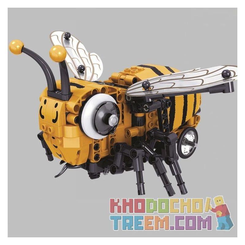 Winner 7110 Xếp hình kiểu Lego TECHNIC Honeybee Electric Technology Assembly Con Ong Nhỏ 285 khối có động cơ pin