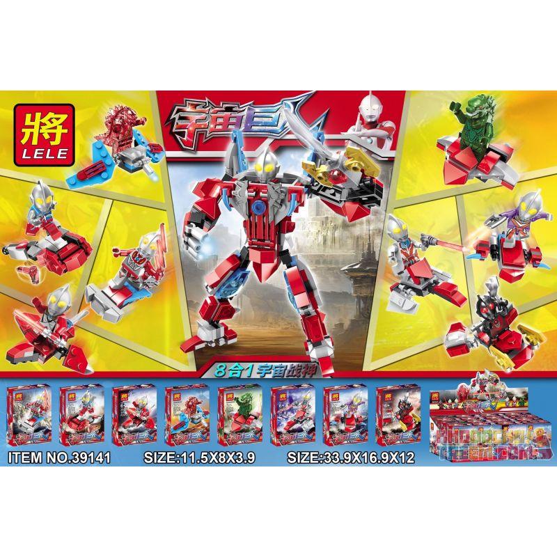 LELE 39141 Xếp hình kiểu Lego ULTRAMAN Space Giant Cosmic God Of War 8 In 1 Ottman God Of Space 8 Trong 1 Ultraman Minifigure