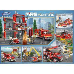 XINGBAO XB-14001 14001 XB14001 Xếp hình kiểu Lego FIRE RESCURE Eliminate Honeycomb Loại bỏ tổ ong 218 khối