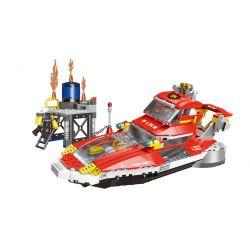 XINGBAO XB-14003 14003 XB14003 Xếp hình kiểu Lego FIRE RESCURE Marine Fire Boat Tàu cứu hỏa biển