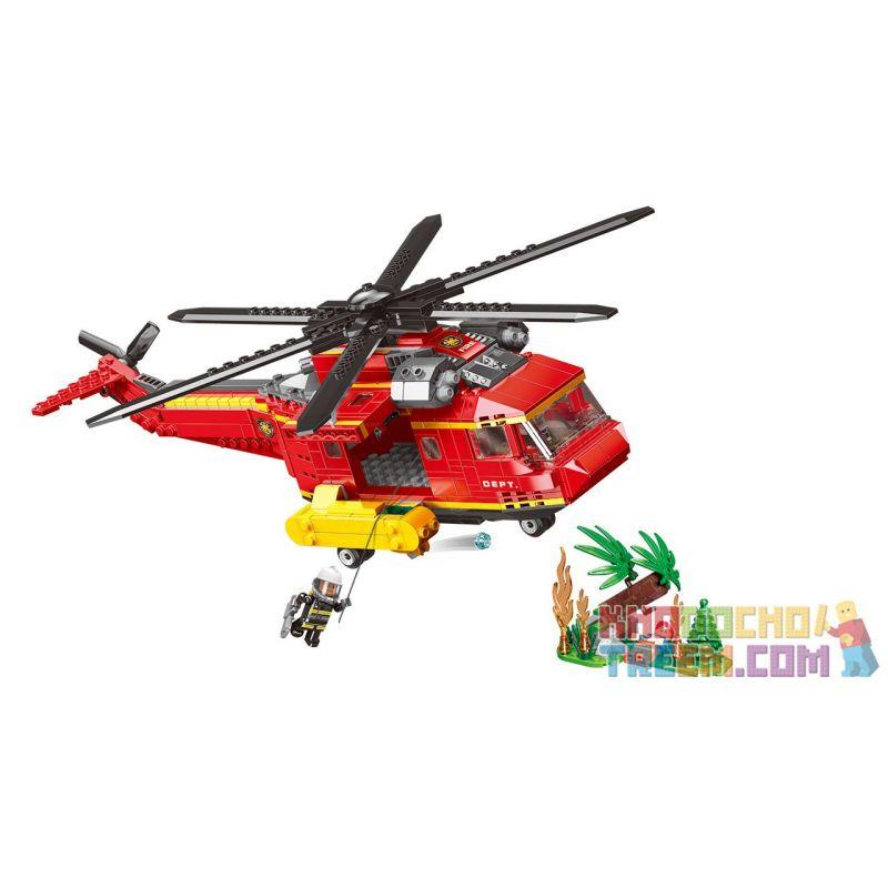 XINGBAO XB-14004 14004 XB14004 Xếp hình kiểu Lego FIRE RESCURE Forest Disaster Relief Cứu trợ thảm họa rừng