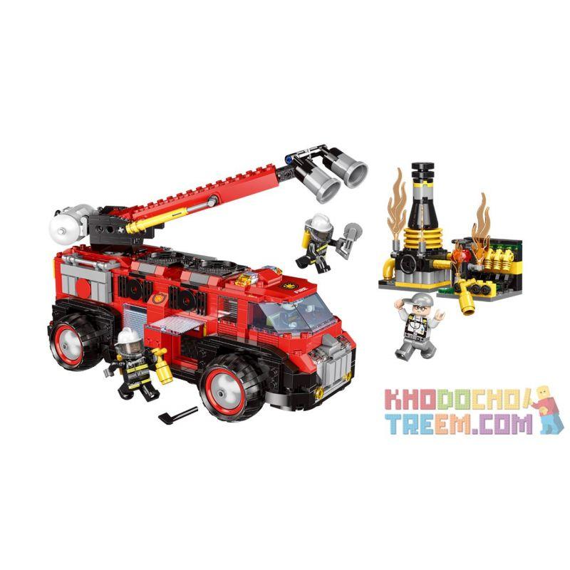 XINGBAO XB-14005 14005 XB14005 Xếp hình kiểu Lego FIRE RESCURE Fire Fighting Industrial Fire Rescue City Fire Brigade Industrial Firefighting Chữa Cháy Công Nghiệp