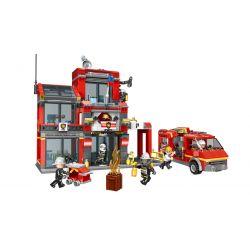 XINGBAO XB-14006 14006 XB14006 Xếp hình kiểu Lego FIRE RESCURE Fire Fighting Fire Sixth Branch City Fire Brigade Sixth Team Đội Cứu Hỏa Số Sáu 1245 khối