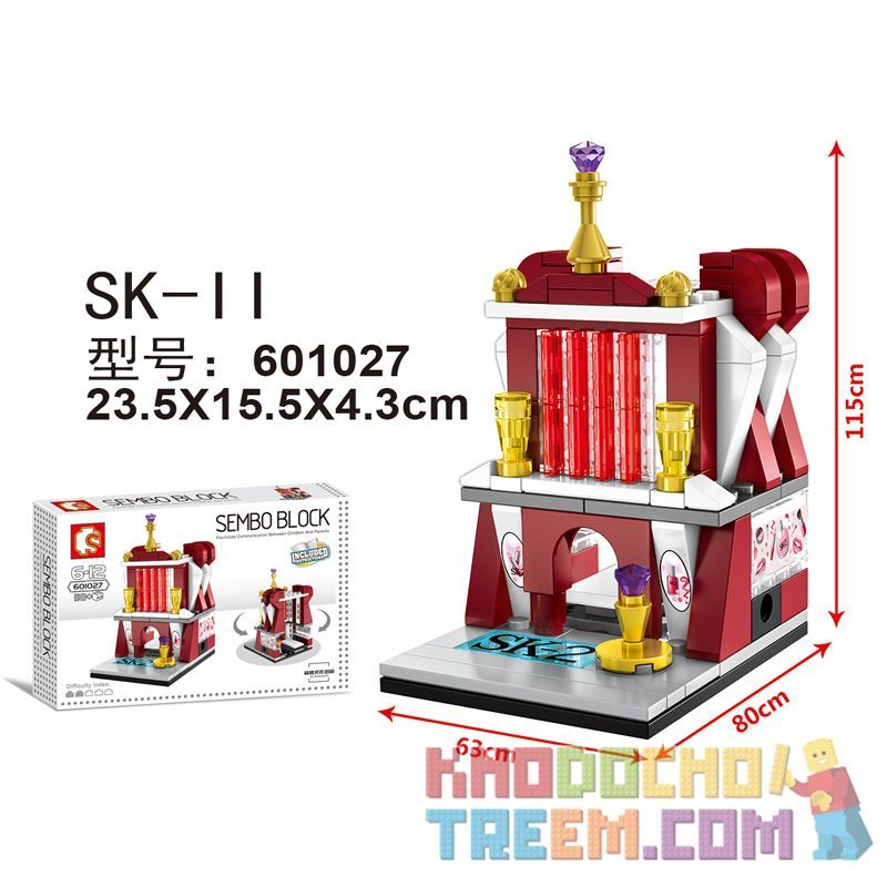 SEMBO 601027 Xếp hình kiểu Lego MINI MODULAR Mini Street View SK-II Chế độ Xem Phố Thu Nhỏ SK-II 118 khối