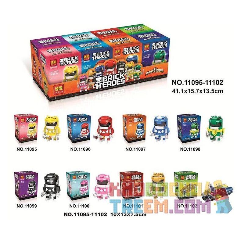 Bela 11095 11096 11097 11098 11099 11100 11101 11102 Lari 11095 11096 11097 11098 11099 11100 11101 11102 Xếp hình kiểu Lego BRICKHEADZ Dinosaur Team 8 Đội khủng long 8 gồm 8 hộp nhỏ