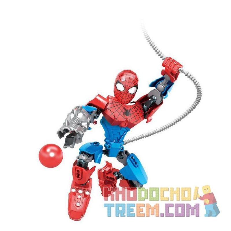 XSZ KSZ 318-2 Xếp hình kiểu Lego TECHNIC Spider-Man Assembled Doll Spiderman Người Nhện 34 khối