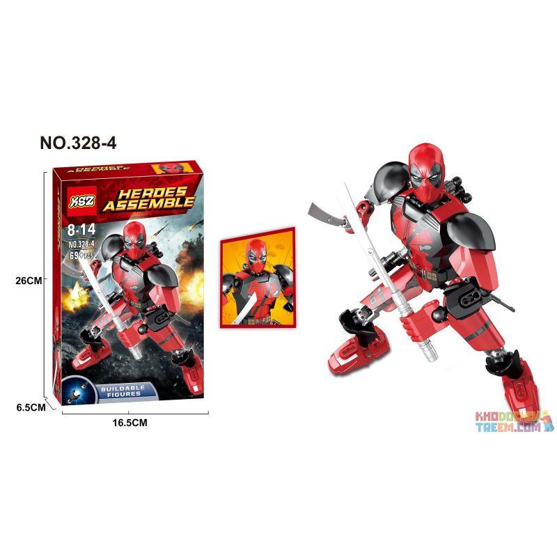 XSZ KSZ 328-4 Xếp hình kiểu Lego TECHNIC Deadpool 69 khối