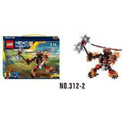 XSZ KSZ 312-2 Xếp hình kiểu Lego MARVEL SUPER HEROES NEXO Knights Build A Doll Beast Lord Chúa Thú 137 khối